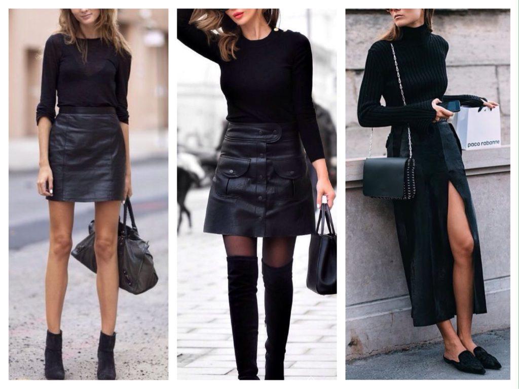 black total look