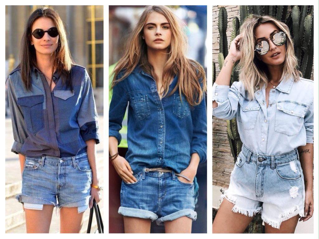 джинсовые комплекты с шортами