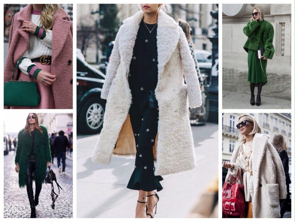 образы в модных меховых пальто