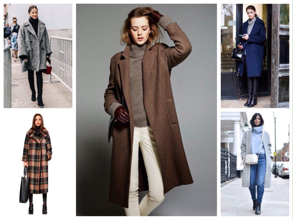 пальто с водолазкой