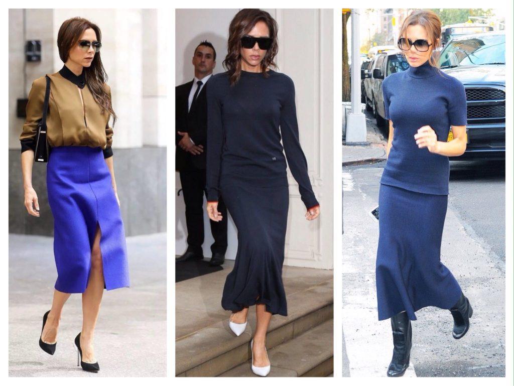 Виктория Бекхэм комплекты с юбками