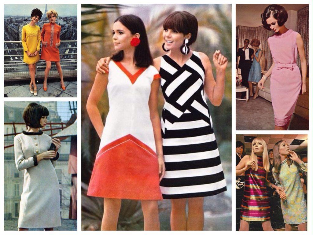 фасоны платья 60х годов