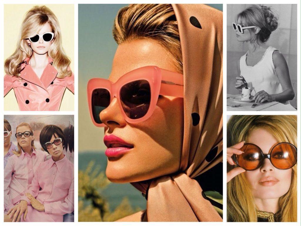 очки в стиле 60х годов