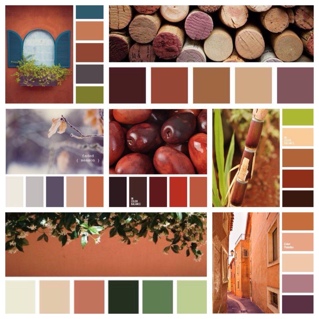 основные сочетания терракотового цвета
