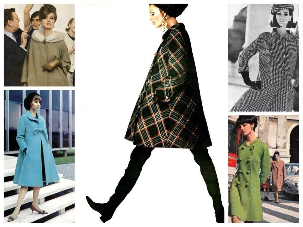 силуэты пальто 60х годов
