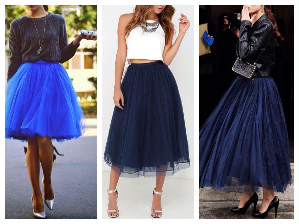 синие юбки пачки воздушные