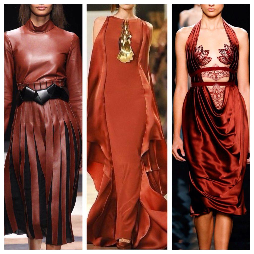 вариации платьев модных коллекций