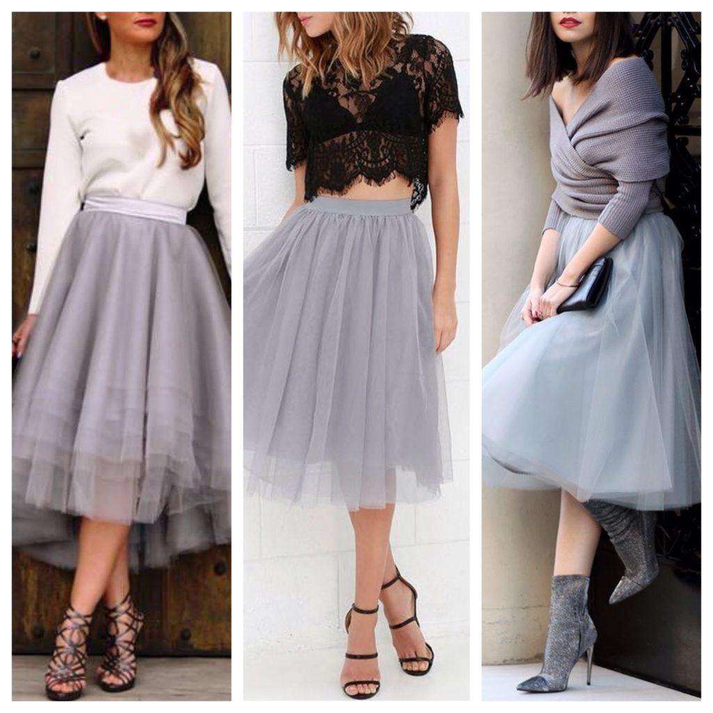 7a94c0abe19 Серая юбка - выбираем фасоны и составляем комплекты