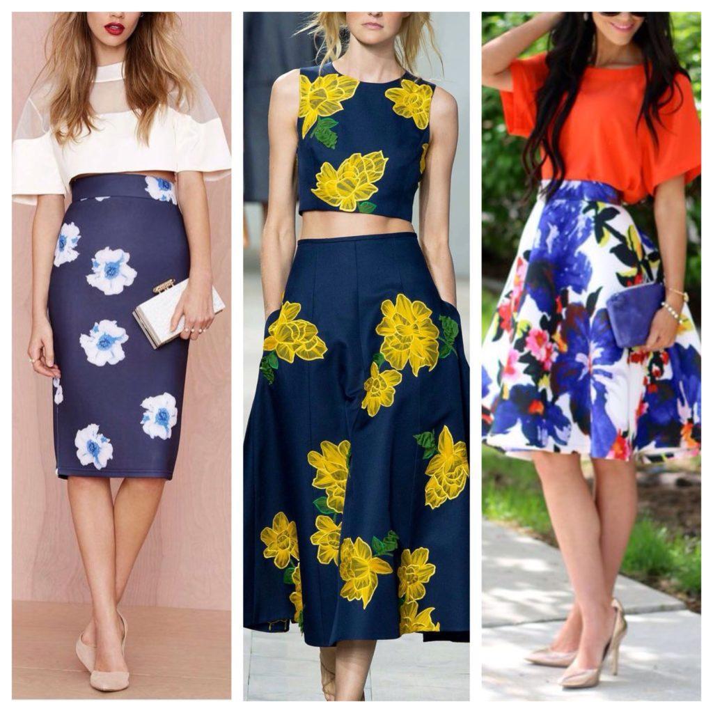 юбки в цветочек