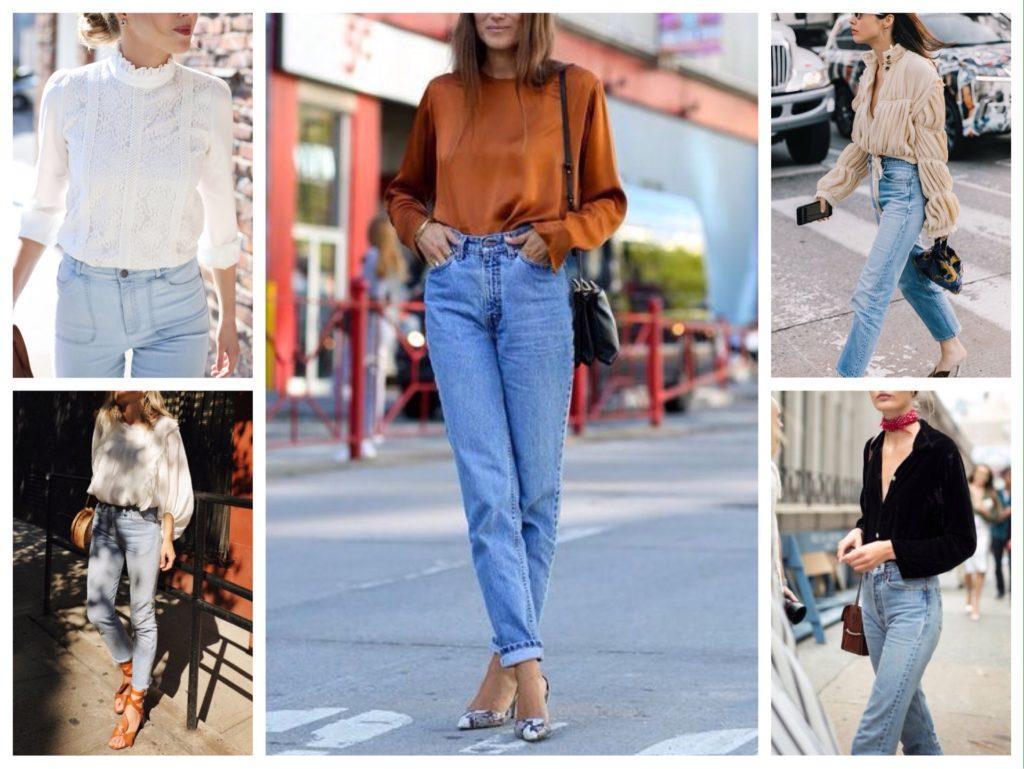 джинсы с блузами