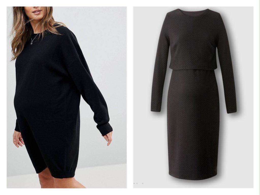 идеи черного платья для беременных