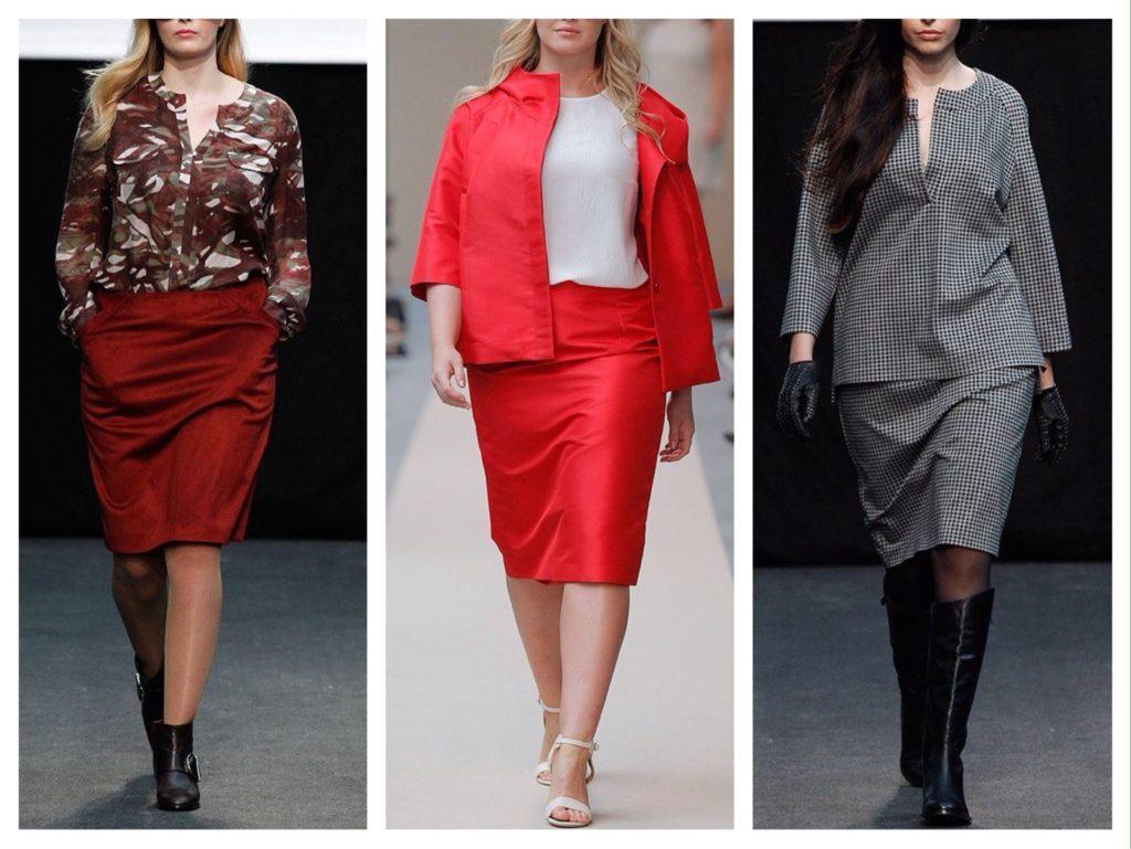комплекты с юбками на подиумах
