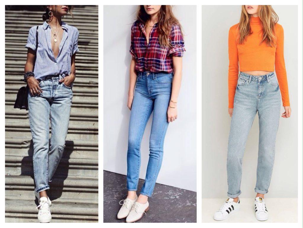 модели голубых джинсов