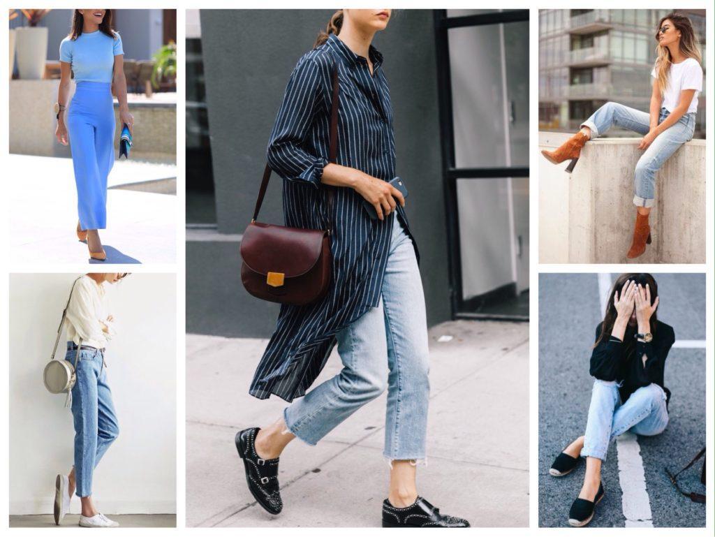 обувь под голубые джинсы