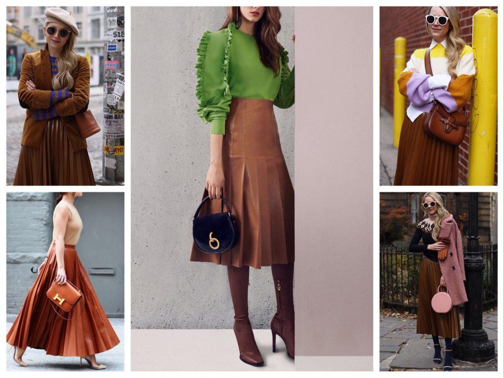 11ef258f923 С чем и как носить кожаную юбку  180 фото-идей комплектов
