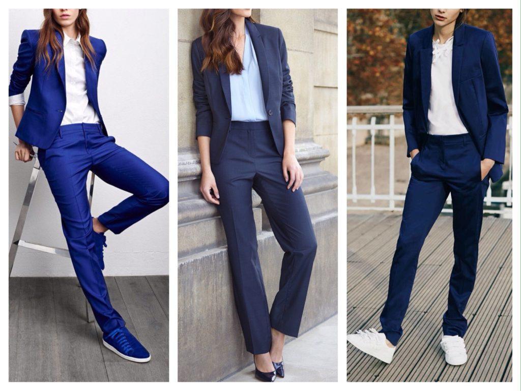 темно синие комплекты с брюками