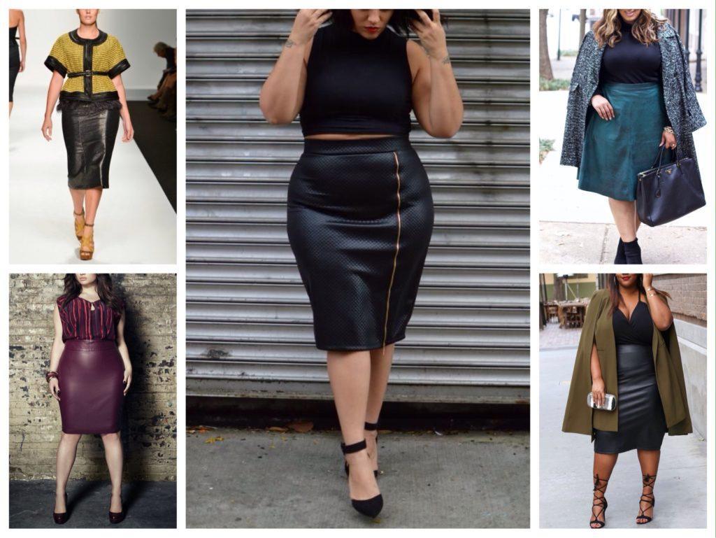 кожаные юбки для полных фото