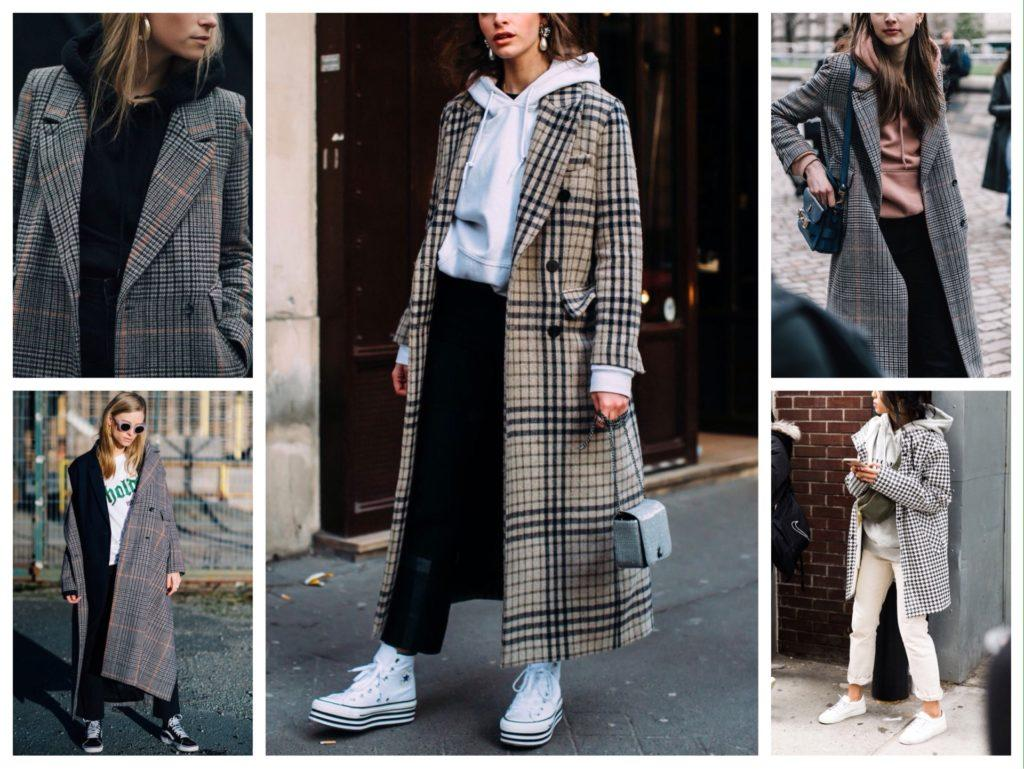 Пальто с худи