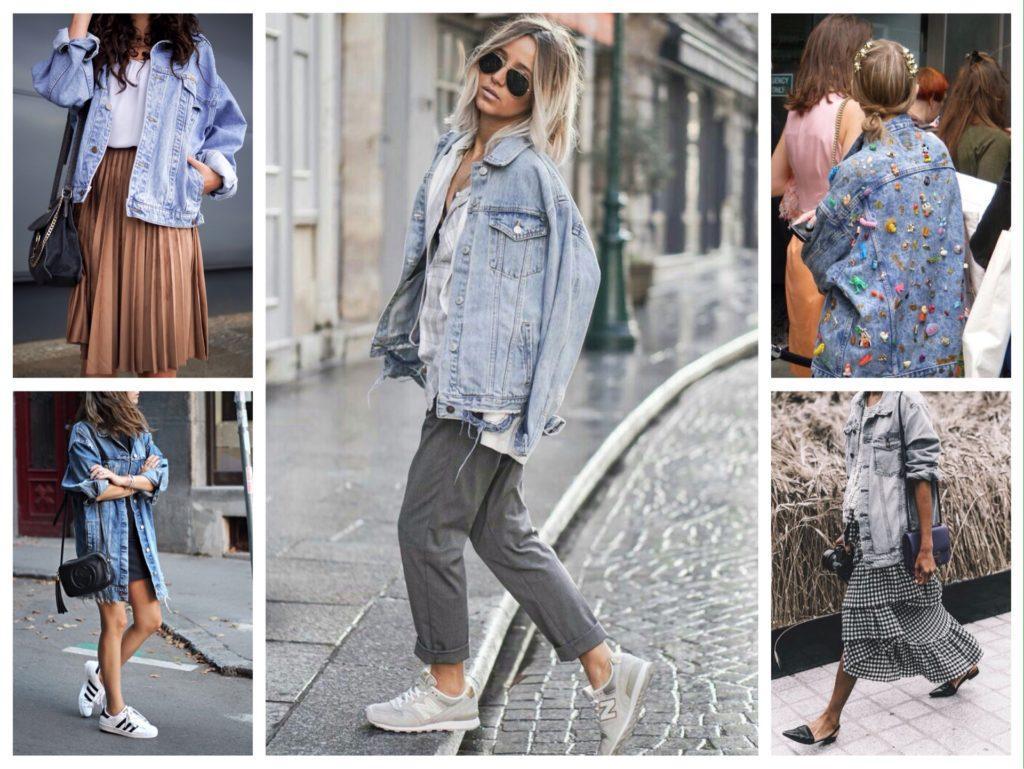джинсовая куртка оверсайз фото