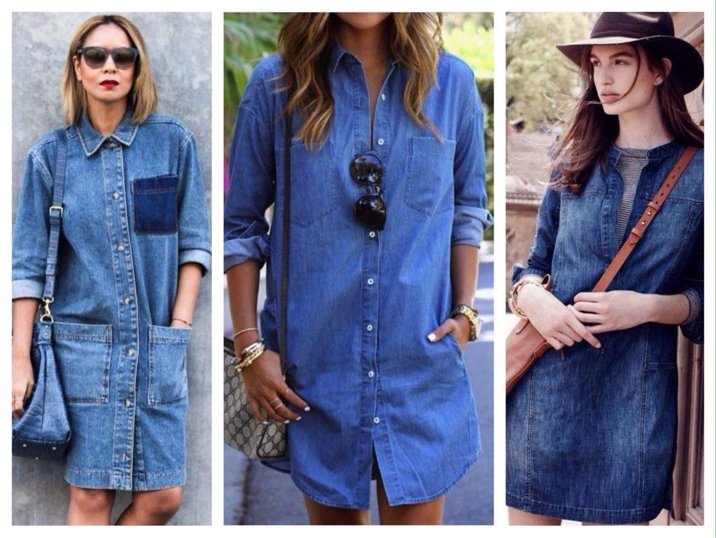джинсовое платье фото