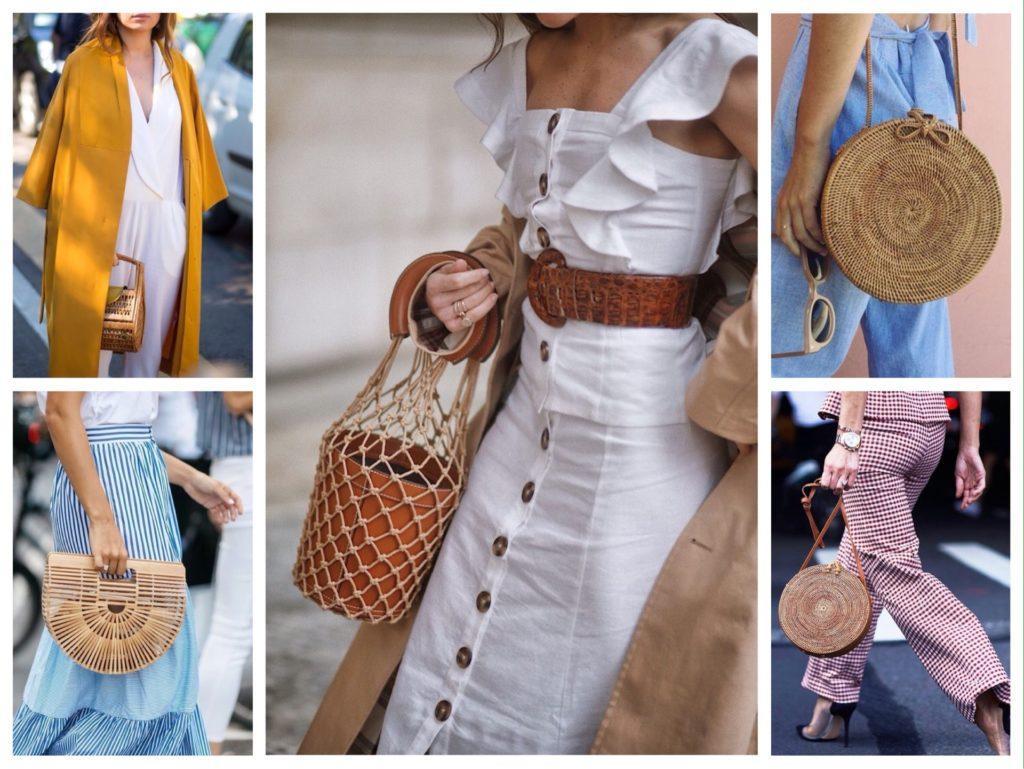 формы плетеных соломенных сумок фото