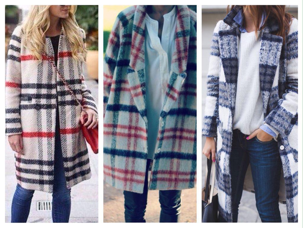 модели пальто с мохером в составе