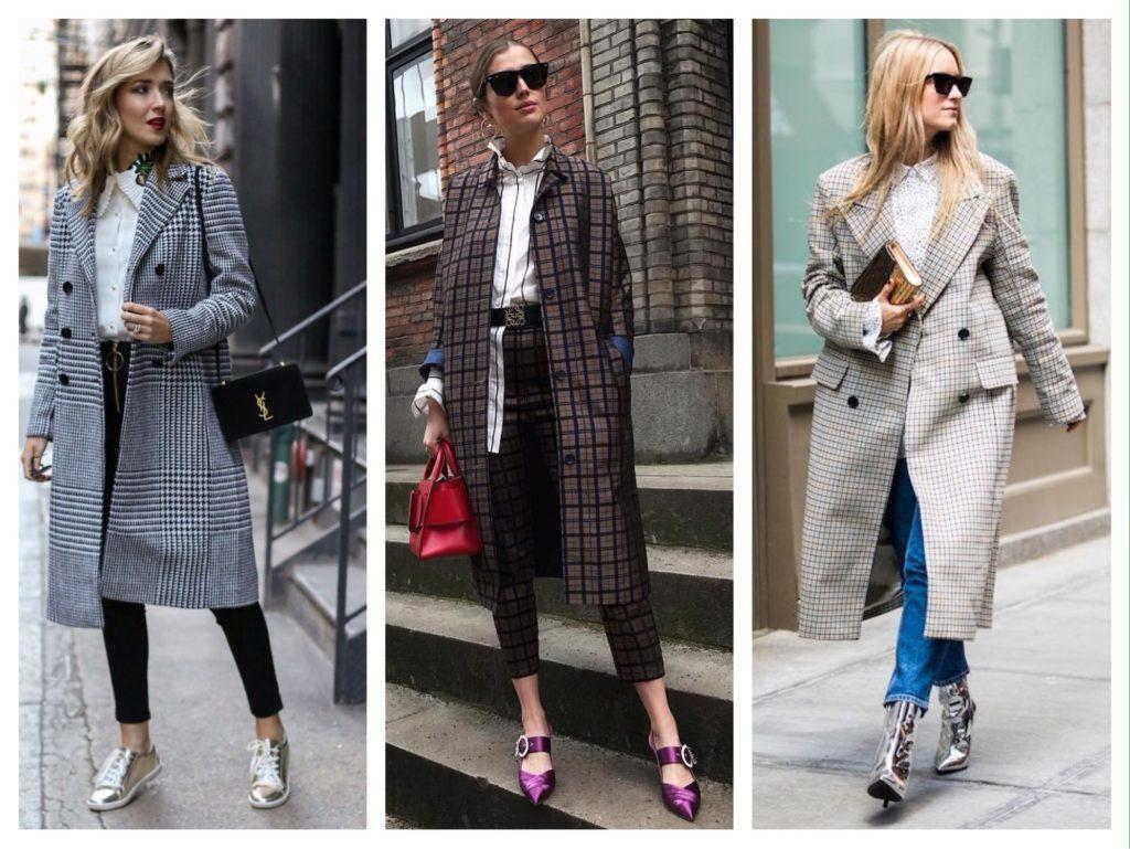 пальто с блузой