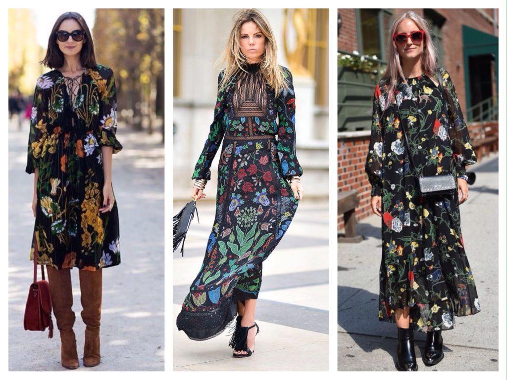 легкие платья в цветочный принт фото