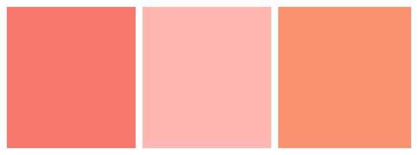 персиковые оттенки