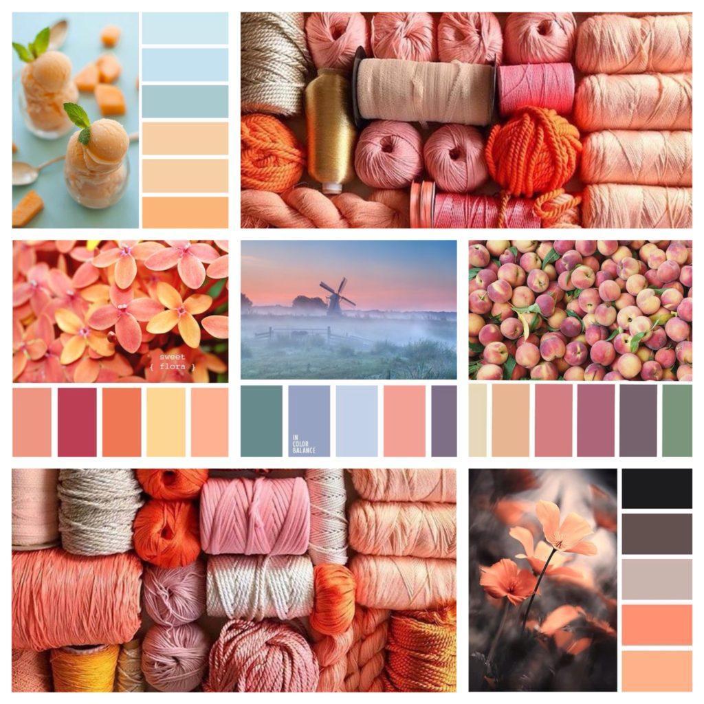 с чем сочетается персиковый цвет