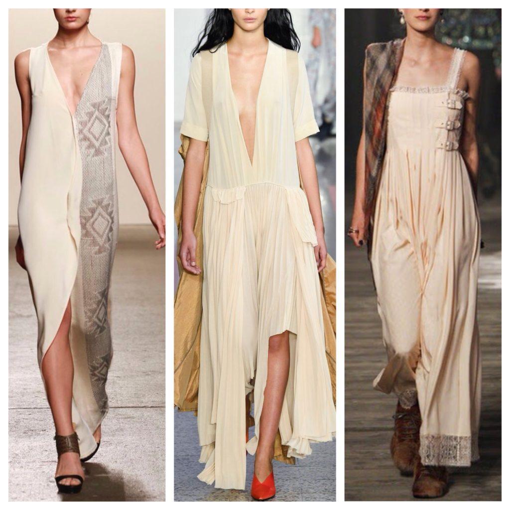 летние идеи платье в пол