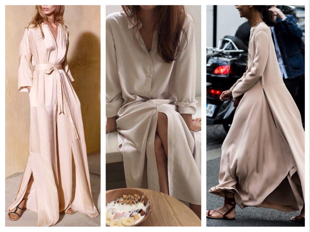 летящие шелковые платья