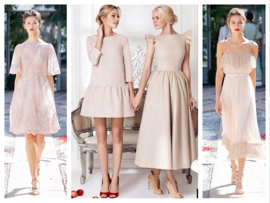 модели от кутюр бежевые платья