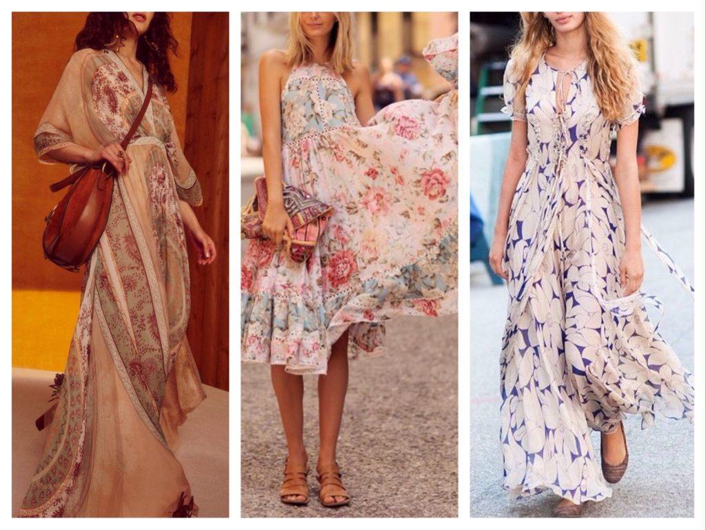 нюдовое платье в стиле бохо