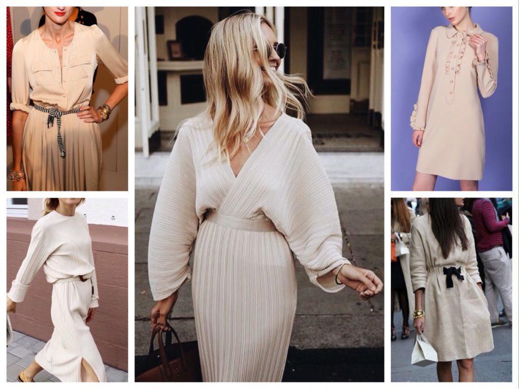 варианты платьев с рукавами