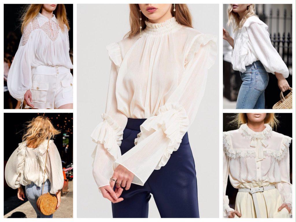 белая кружевная блуза фото