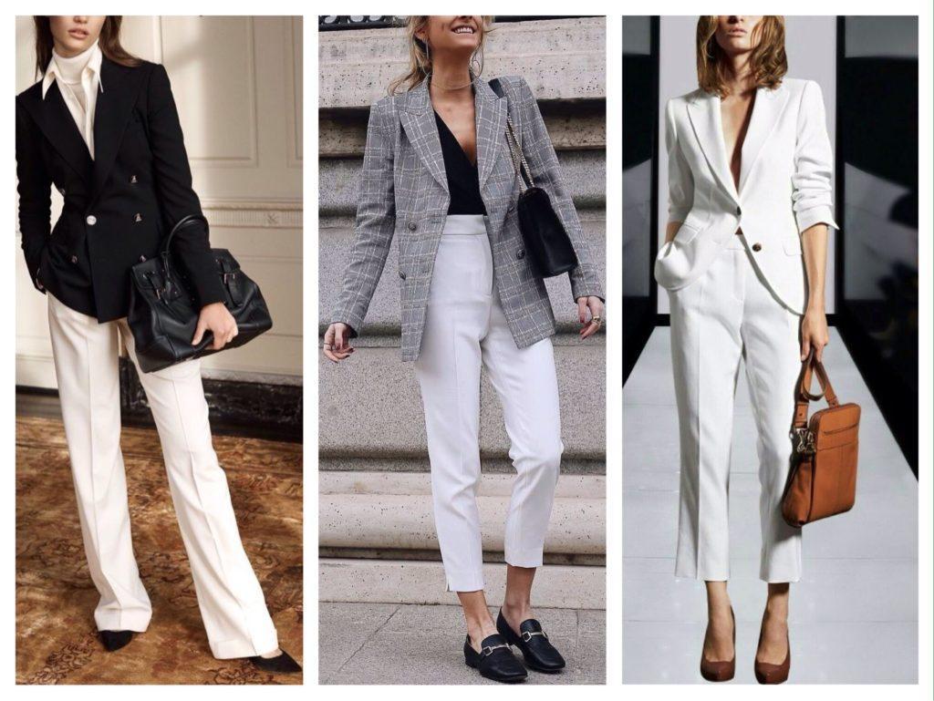 белые брюки с пиджаком фото