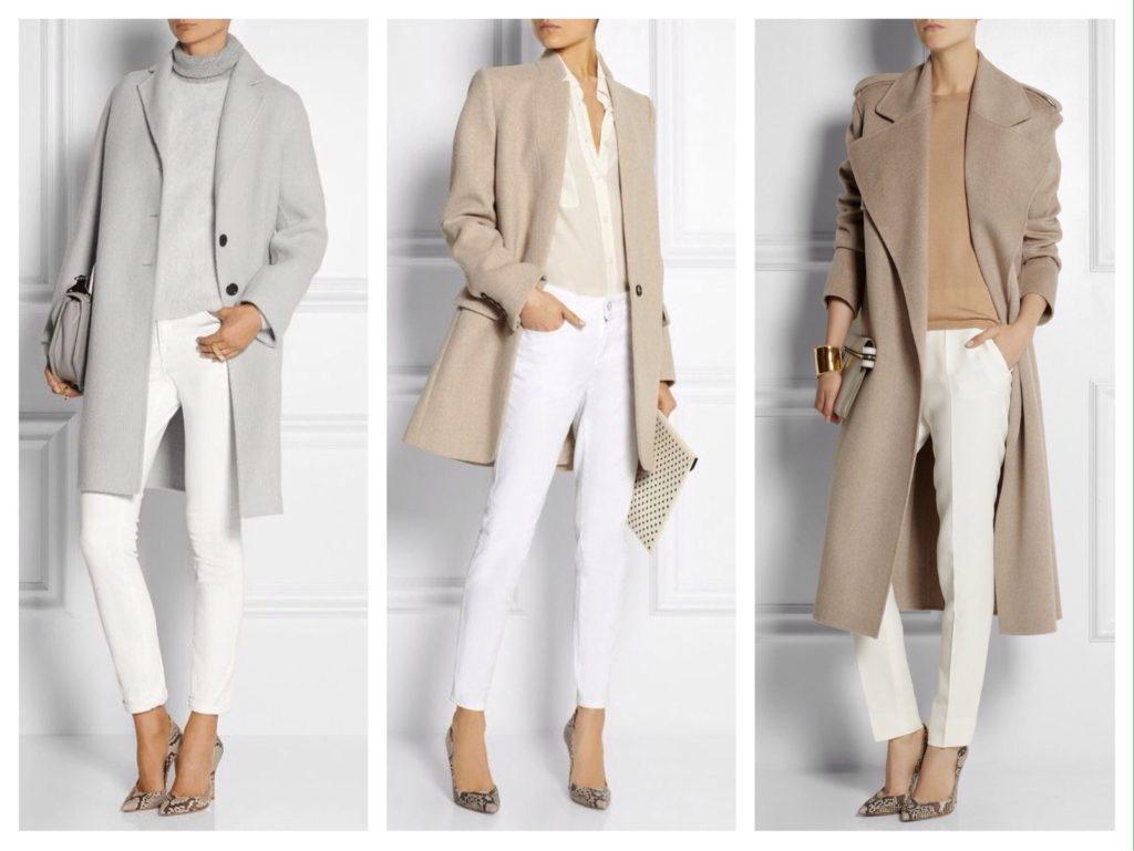 деловые образы с белыми брюками
