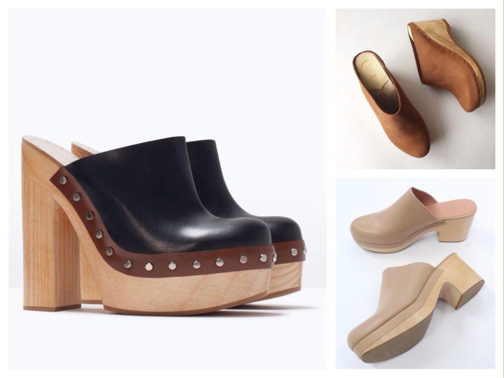обувь сабо на каблуке