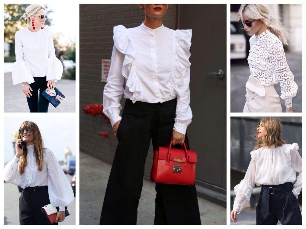 с чем одеть белую блузку фото