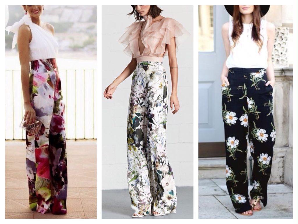 широкие брюки в цветочек