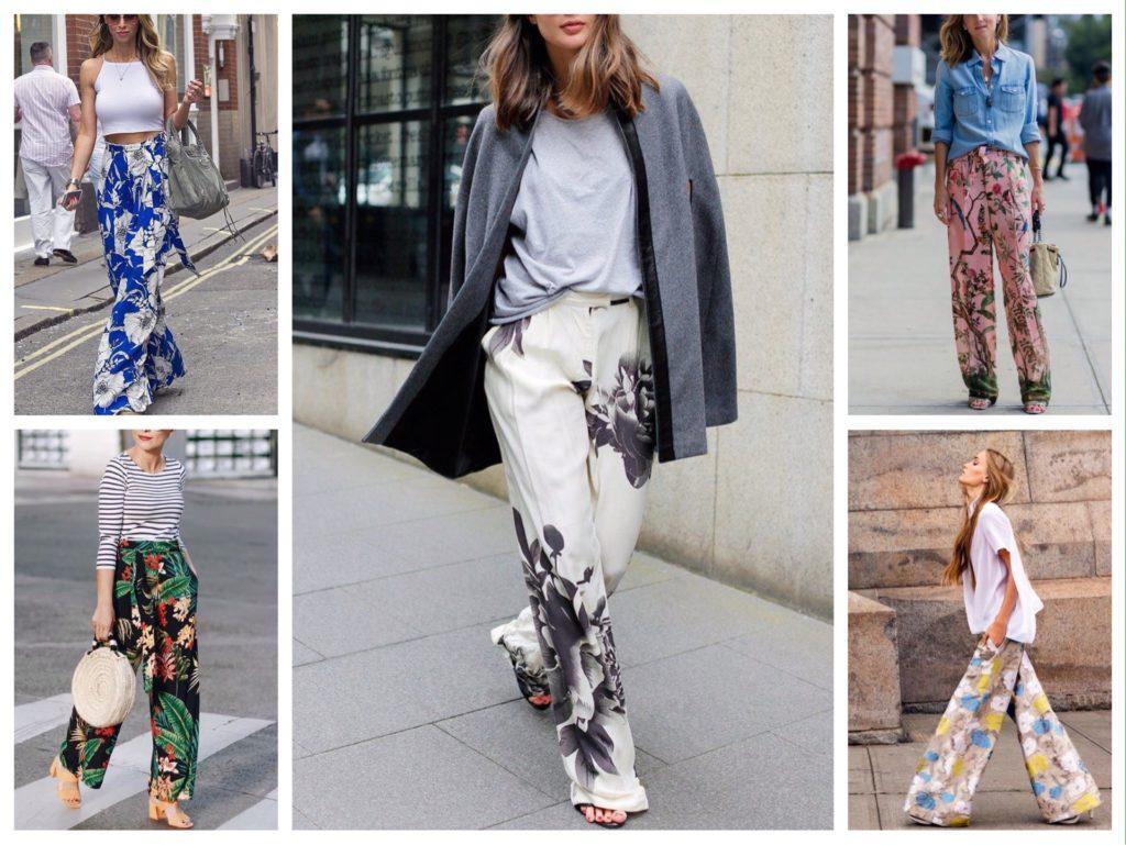 струящиеся брюки флоральный принт образы