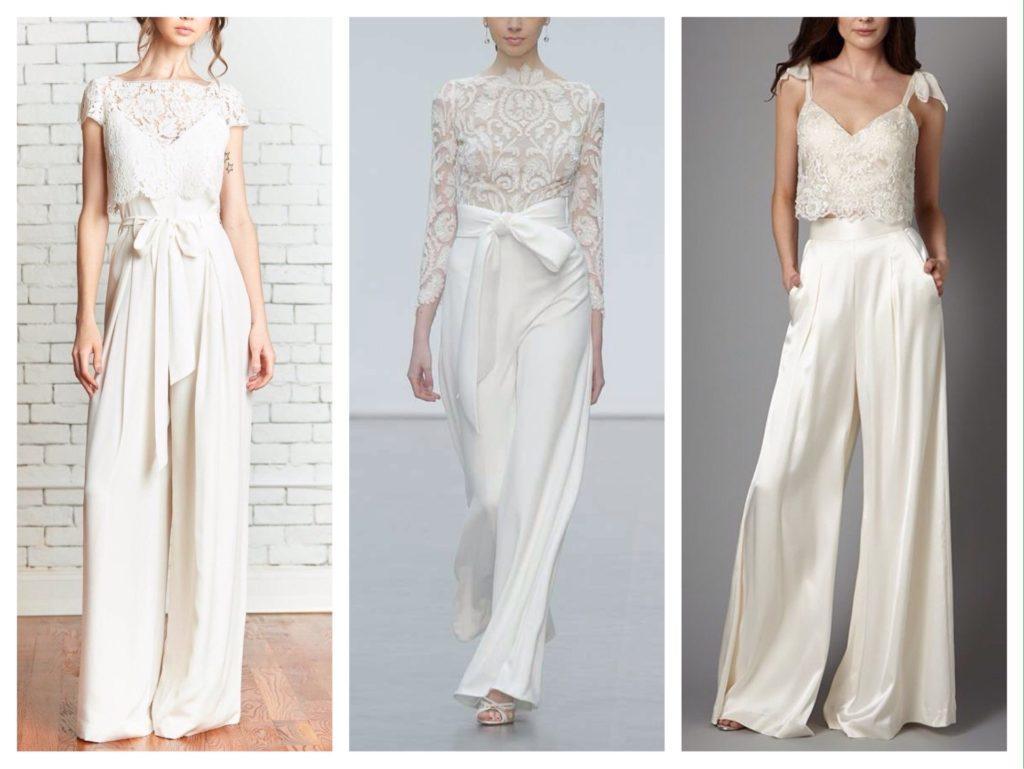 свадебные комплекты с брюками палаццо