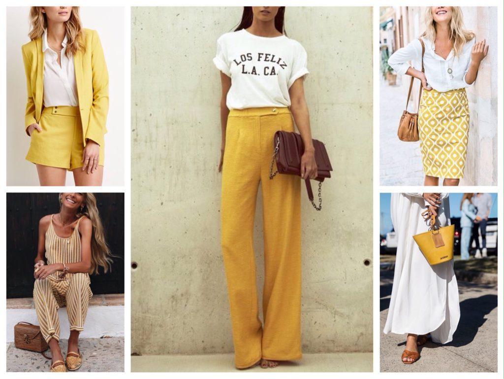 желтый с белым одежда