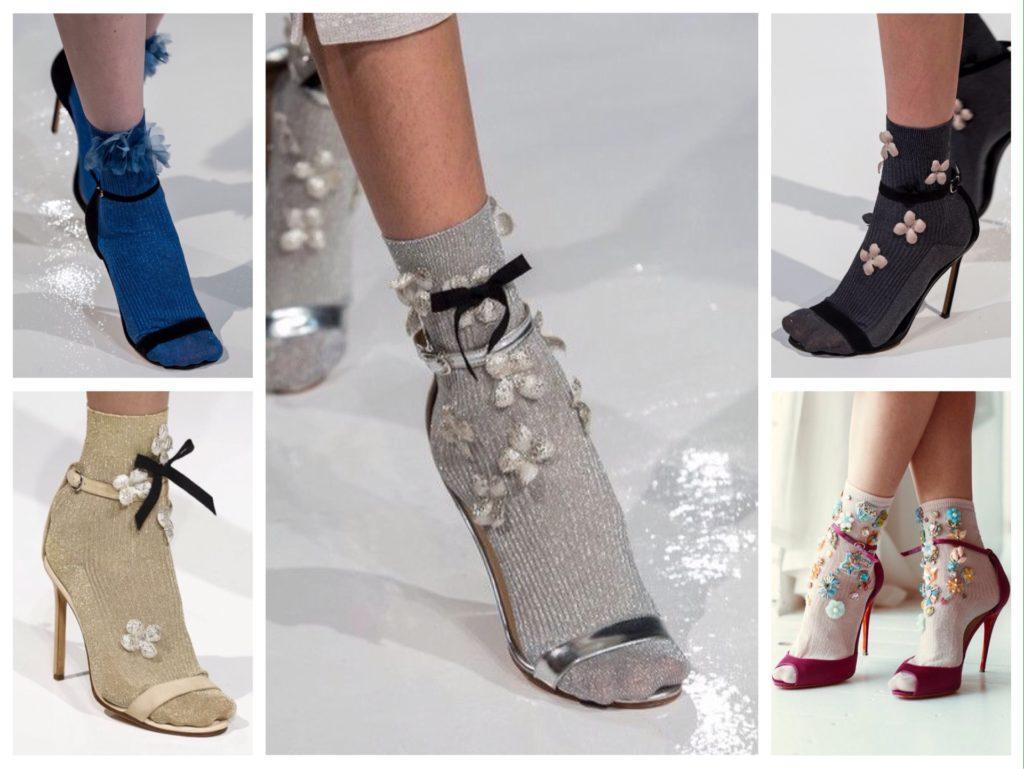 Носки с босоножками на подиумах