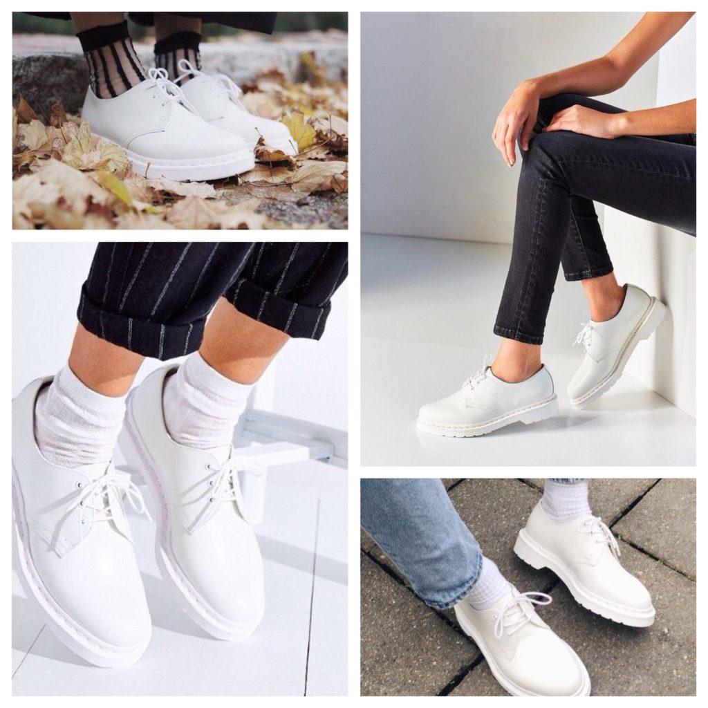 белая обувь на плоском ходу