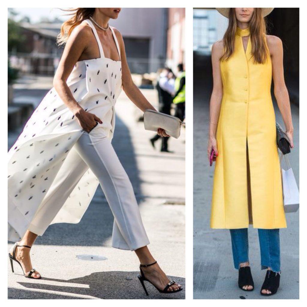 летние сарафаны с брюками