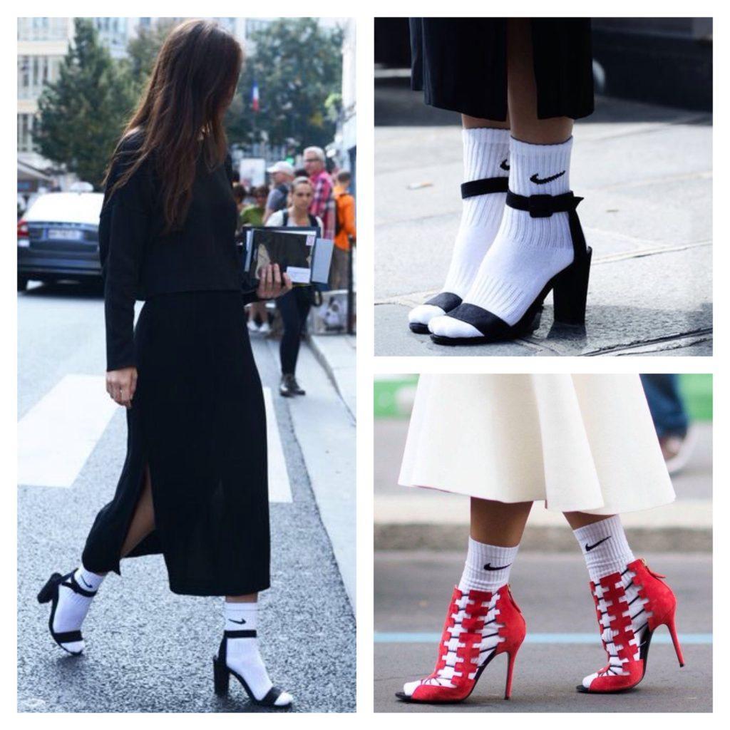 образы с босоножками носки