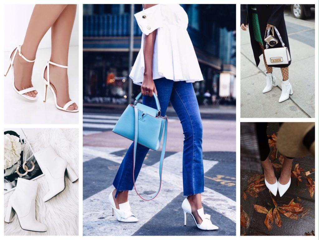 с чем носить белую обувь