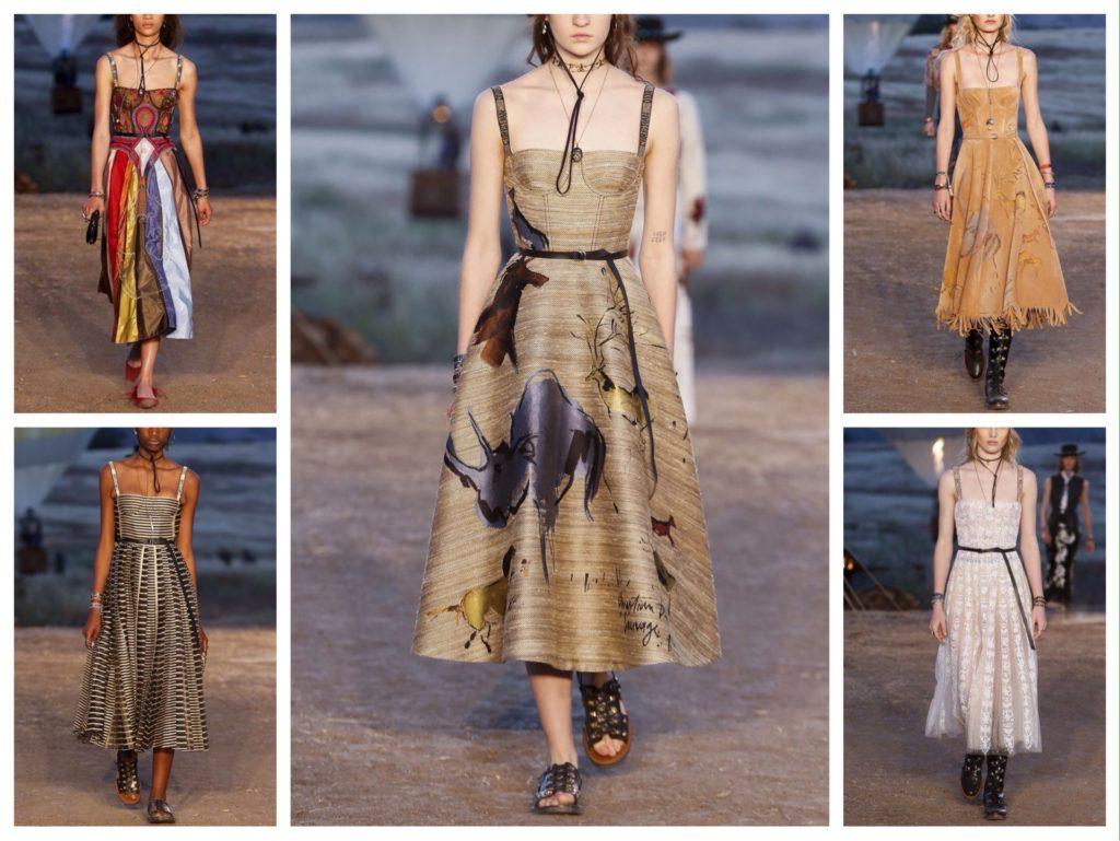 сарафаны с показа Dior